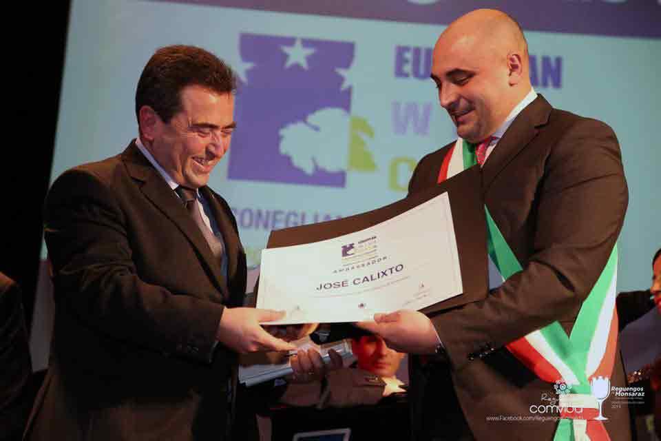 Jose Calixto nuovo presidente di Recevin, rete Europea delle Città del Vino