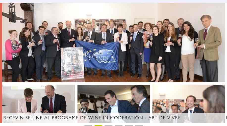 Wine in Moderation: Recevin aderisce al programma europeo contro l'abuso di alcool