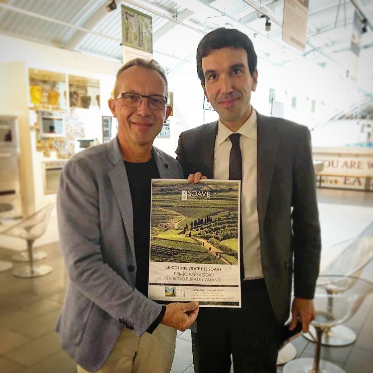 Il Soave a Roma col Ministro Martina per il paesaggio storico