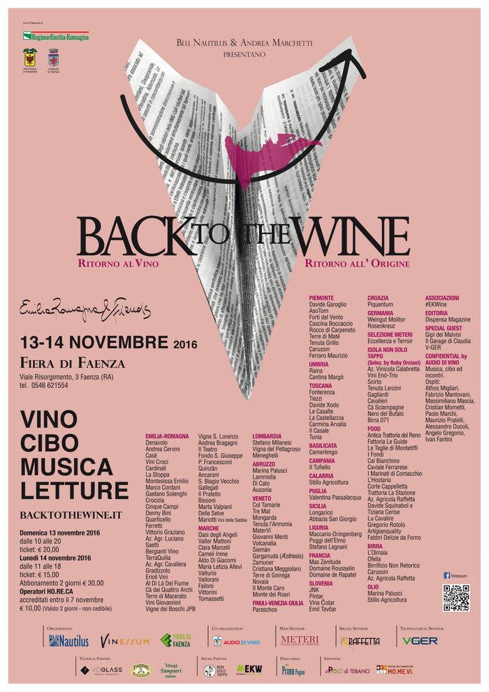 #backtothewine: Il vino ritorna protagonista a  Faenza