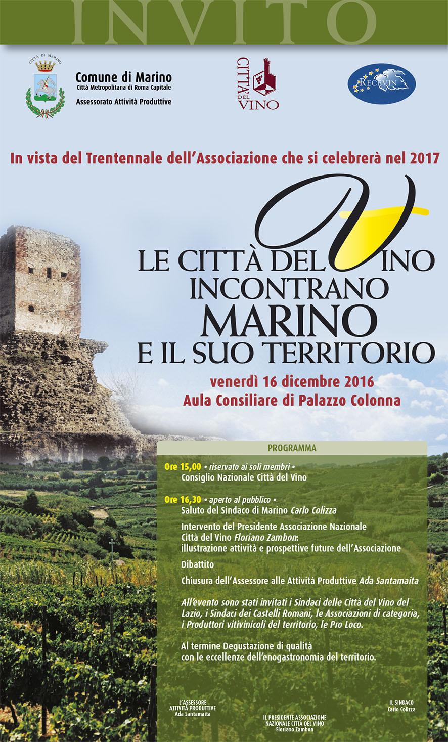 Marino, Città del Vino riunisce il Consiglio Nazionale