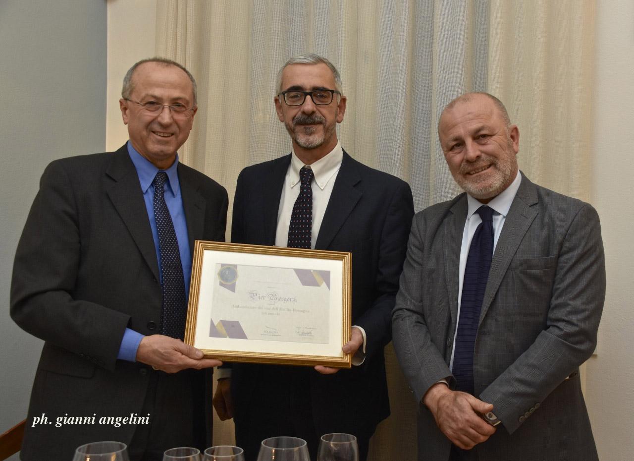 Pier Bergonzi è un nuovo ambasciatore del vino dell'Emilia Romagna