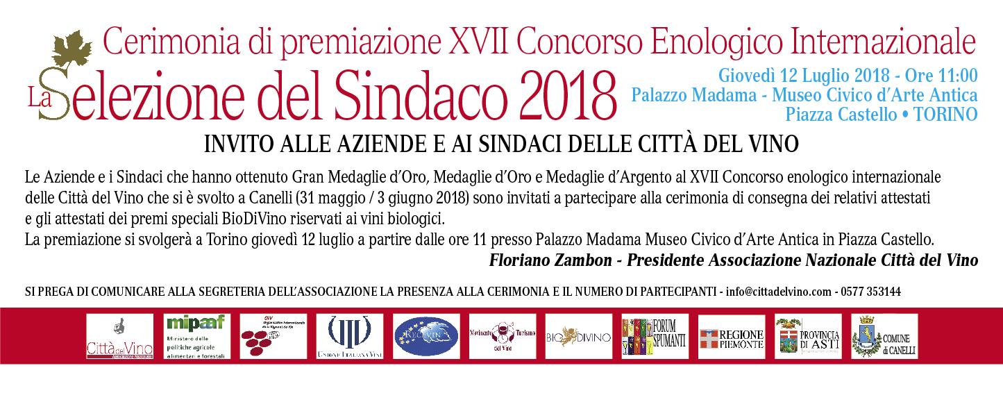 A Torino la premiazione del concorso enologico delle Città del Vino La Selezione del Sindaco alla presenza del presidente della Regione Piemonte Sergio Chiamparino