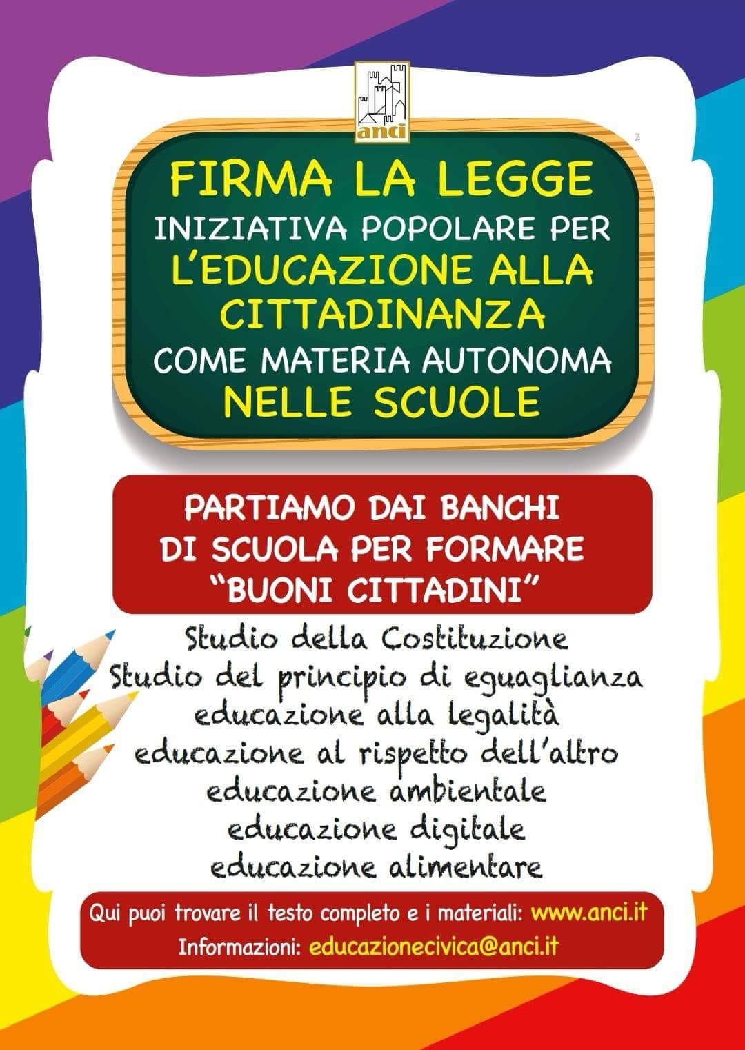 Raccolta firme per insegnare civismo nelle scuole