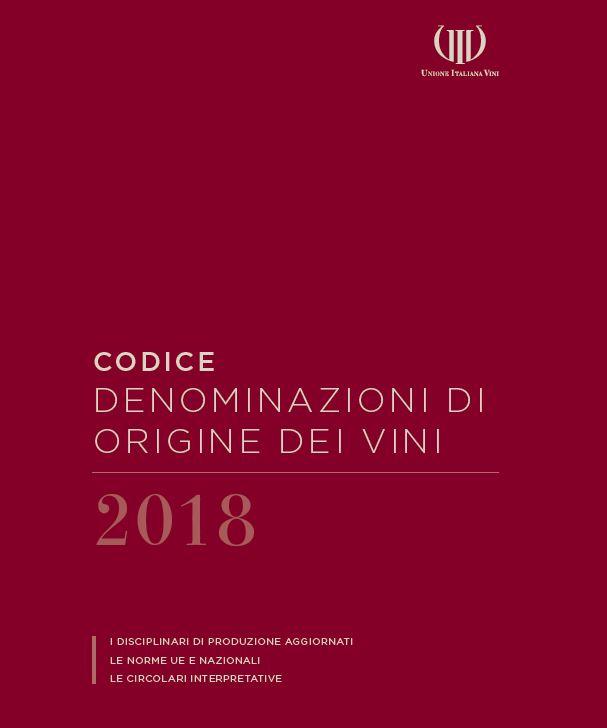 """XI edizione del """"Codice denominazioni d'origine dei vini"""""""