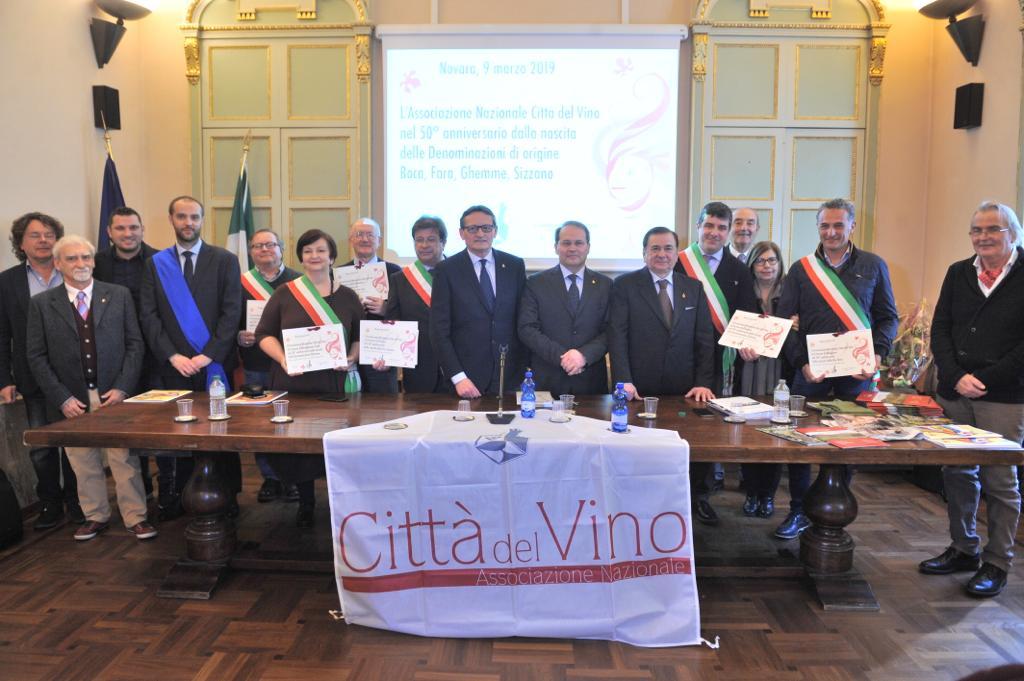 Città del Vino ricorda il 50° anniversario delle Denominazioni di origine Boca, Fara, Ghemme e Sizzano