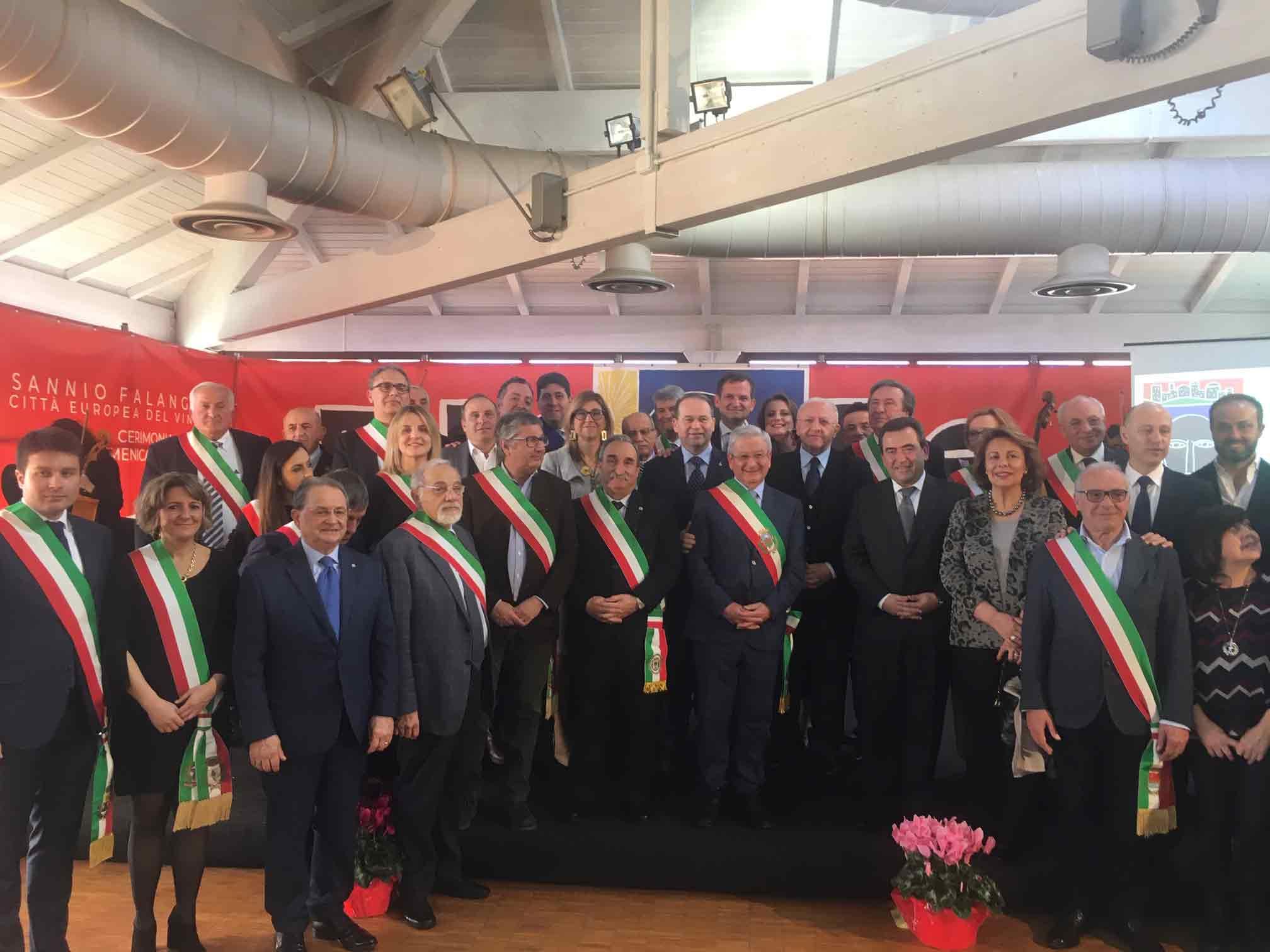 Sannio Falanghina: cerimonia di chiusura con il passaggio di testimone alla spagnola Aranda de Duero Città europea del Vino 2020