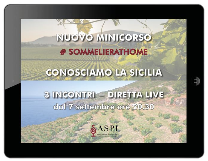 Sicilia protagonista di SOMMELIER AT HOME
