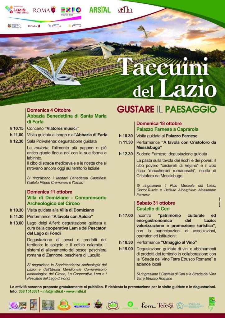 Taccuini del Lazio. Gustare il paesaggio