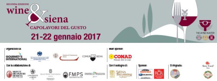 Siena torna capitale del vino con Wine&Siena che, nell'edizione 2017, si amplierà a tutta la città