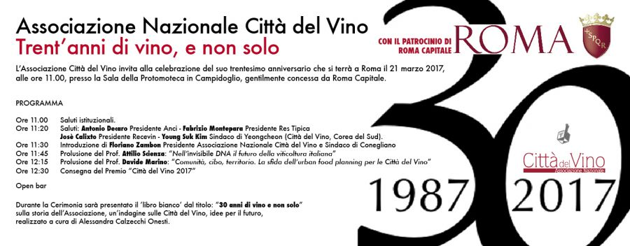 Città del Vino compie trent'anni