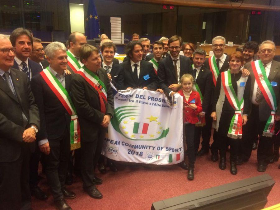 Conegliano-Bruxelles, il titolo di comunità europea dello sport