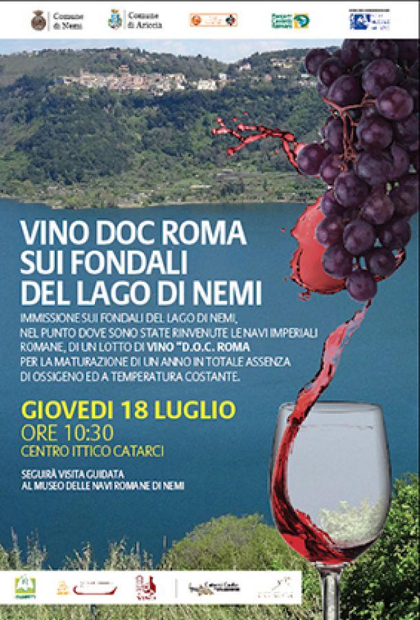 Nel Lago di Nemi si conserva il vino di Caligola