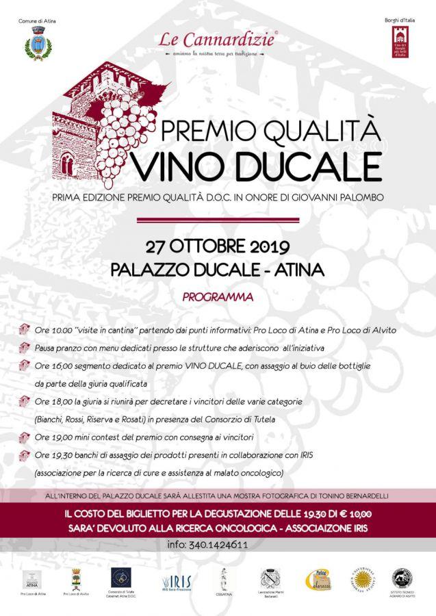 Si festeggia l'Atina DOC con la prima edizione del Concorso Vino Ducale