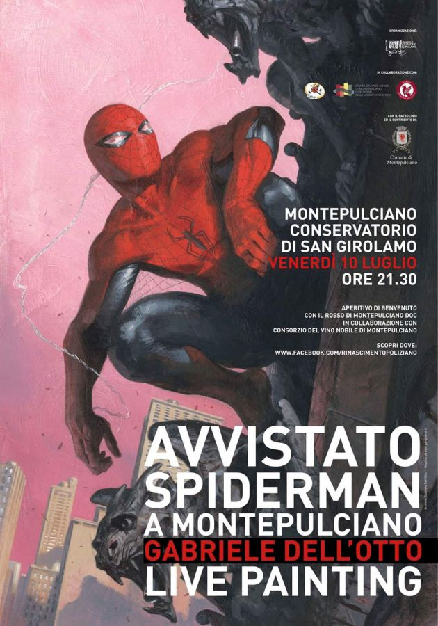 Spiderman a Montepulciano