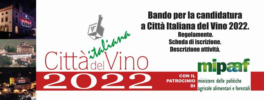 Città Italiana del Vino 2022. Ecco il Bando per le candidature