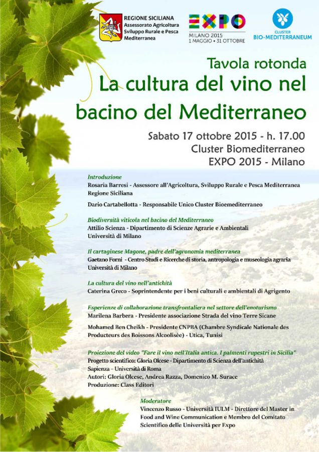 La cultura del vino nel bacino del Mediterraneo